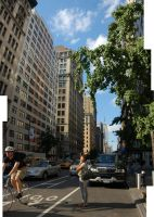 5th ave Manhattan by kayscribble