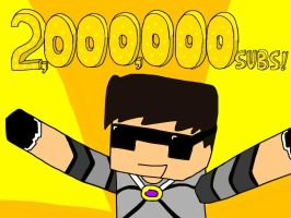 TWO MILLION SUBSCRIBERS by DiamondSwordDS
