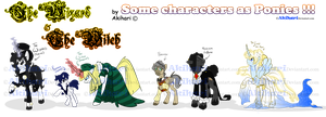 +_TWTW some OCs as Ponies_+ by Akihari
