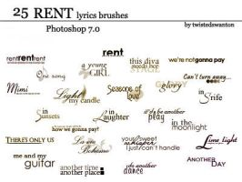 RENT lyrics - text brushes by twistedswanton