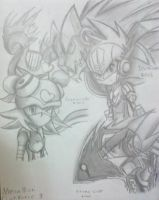 Megaman Starforce 3 - Sketches by IceNinjaHard