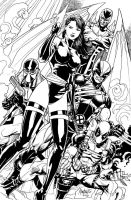 Uncanny X force inked by gammaknight