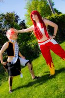No Natsu, you'll never be able to defeat me by SCARLET-COSPLAY