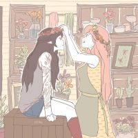 Florist/Tattoo Artist AU by iiping