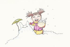 Fan Art: Snow Totoro by NickiDoodles