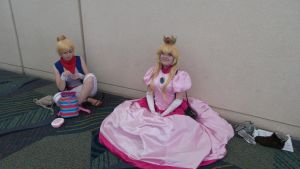 Megacon Peach and Tetra by kingofthedededes73