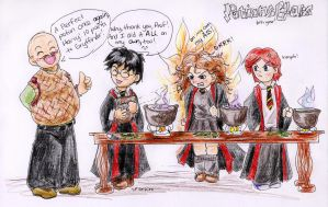 Slughorn's Potions by incaseyouart
