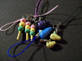 Various Phone Charms by Lambentworld