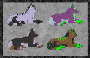 Terro X Shazi pups for WildStar00 by Demi-The-Rougess
