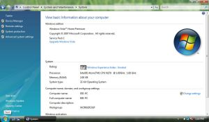 Windows Vista on EEE PC 900HA by GateFan