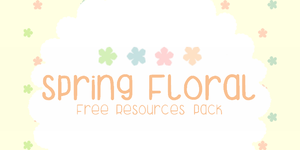 Spring Floral FREE Resources Pack by from-pii