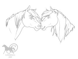 Nose kiss by Dreams-Horses