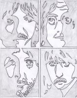 The Beatles sketch by HappiPanda