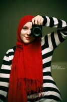Girl in the Red Scarf by NadiasPortfolio