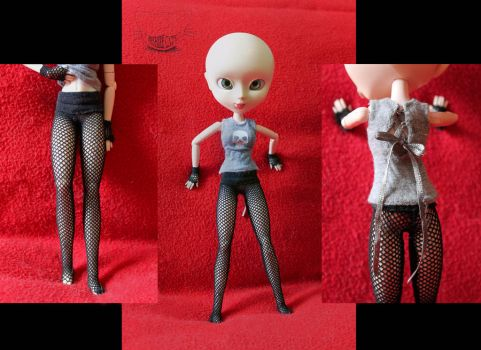 Tights and shirt details by SeshireCat