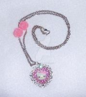 Hello Kitty necklace - SOLD by AngelLale87