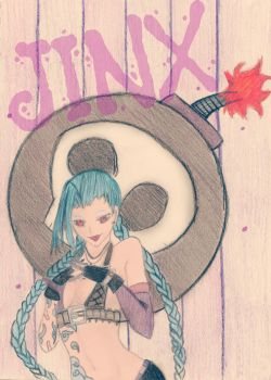 A Jinx Drawing by WeLiveToCosplay