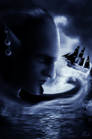 Ghostly Galleon Tossed Upon Cloudy Seas by NorroenDyrd