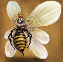 Queen Bee Monarch Background-Touchup by Moonymage