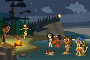 Skinny Dippin' on Total Drama Island by jacobauf