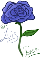 Rose for Luis~ by abaddono