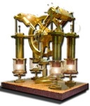 Steampunk CPU  Performance Icon by yereverluvinuncleber