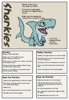 Sharkies Species Sheet by sushi-just-ask