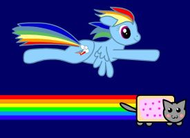 Rainbowdashing is fun. Nyan. by qhaud