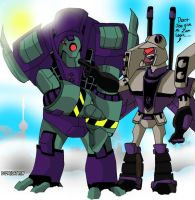 Lugnut and Blitzwing by DJ-MegaTron