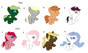 .:CLOSED:. Filly and Colt adoptables by vega37