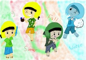 Inthelittlewood Seasons (colored) by Syrdxx