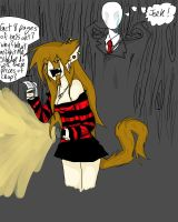 Me and Slenderman by TheHeadlessArtistart