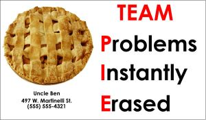 Team Pi-e Business Card by Uncle-Ben