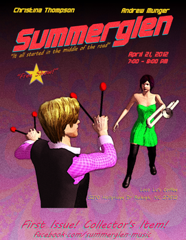 Pulp-Style Concert Poster by NAMhere