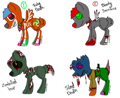 Death themed adoptables  by scatteredSparks