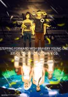 Stepping forward with brave young one by ye-fan