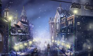 Steampunk City Christmas by jjpeabody