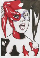 card of harley quinn by jefterleite