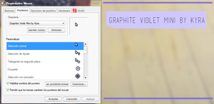 Cursor graphite violet mini by WorldCustomize by WorldCustomize