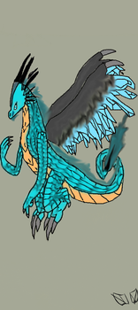 Ice Dragon-Colored by nigth-the-hedgehog