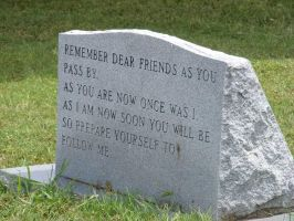 Headstone quote by zombieerose