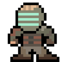 Mega Clarke (8-bit Dead Space) by MelolzuGaming