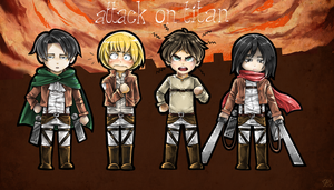Attack On Titan puppets by Yasgurl