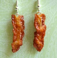 Bacon Earrings by LittleSweetDreams