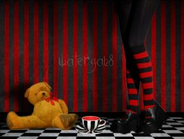 +tea time with mr. teddy bear+ by watergal28