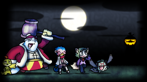 Pkmn Crossing-Trick or Treatin by Gafagear