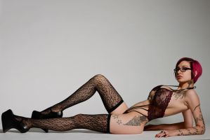 Leopard Stockings by Ariane-Saint-Amour
