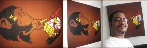 Chimp canvas by dracoimagem-com
