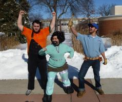 Bearded Wreck-It Ralph Trio 1 by Linksliltri4ce