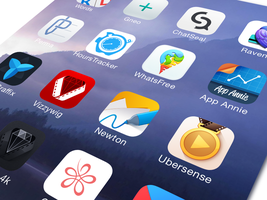 Flat iOS App Icons by Ramotion